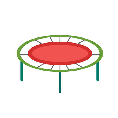 trampoline: Trampoline, fun, play icon vector image. Can also be used for outdoor fun. Suitable for use on web apps, mobile apps and print media.