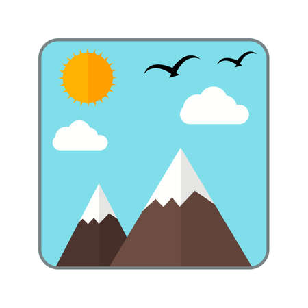 snaps: Gallery, images, photo icon vector image.Can also be used for photography. Suitable for mobile apps, web apps and print media. Illustration