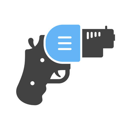 use pistol: Revolver, gun, pistol icon vector image. Can also be used for games entertainment. Suitable for use on web apps, mobile apps and print media.