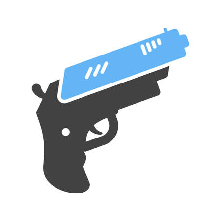 use pistol: Gun, pistol, shot icon vector image. Can also be used for games entertainment. Suitable for use on web apps, mobile apps and print media.