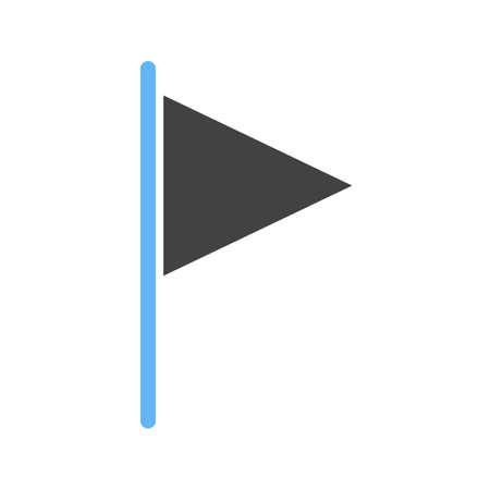 bandera carreras: Bandera, la raza, el icono de carreras vector de imagen. También se puede utilizar para los mapas de navegación. Adecuado para aplicaciones móviles, aplicaciones web y medios impresos. Vectores