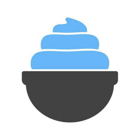 Sahne, Schlagsahne, Bäckerei-Symbol Vektor image.Can auch für Bäckerei verwendet werden. Geeignet für mobile Anwendungen, Web-Anwendungen und Printmedien. Vektorgrafik