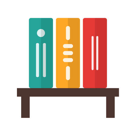 schooling: Library, bookshelf, college icon vector image. Can also be used for schooling. Suitable for use on web apps, mobile apps and print media.