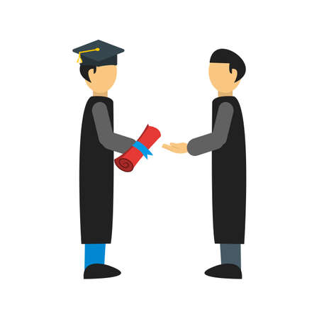 schooling: Diploma, student, school icon vector image. Can also be used for schooling. Suitable for use on web apps, mobile apps and print media.