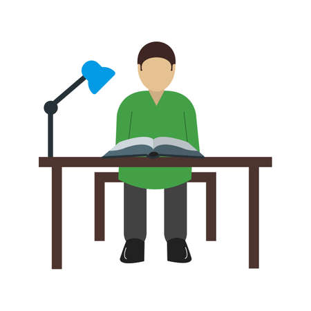 schooling: Desk, school, study icon vector image. Can also be used for schooling. Suitable for use on web apps, mobile apps and print media.