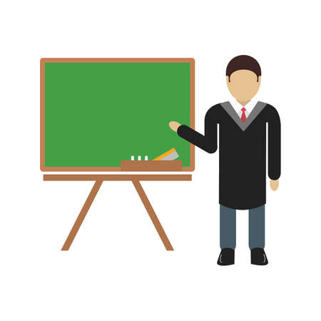 Profesor, mężczyzna, nauczyciel ikona wektor obrazu. Może być również wykorzystywany do nauki. Nadaje się do stosowania w aplikacjach internetowych, aplikacji mobilnych i mediów drukowanych. Ilustracje wektorowe