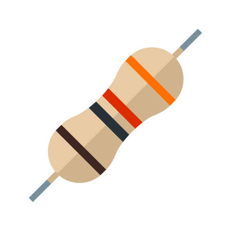 resistor: Technology, circuit, electronic icon vector image. Can also be used for electric circuits. Suitable for use on web apps, mobile apps and print media.