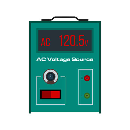 ac voltage source: Battery, volt, AC icon vector image. Can also be used for electric circuits. Suitable for use on web apps, mobile apps and print media.