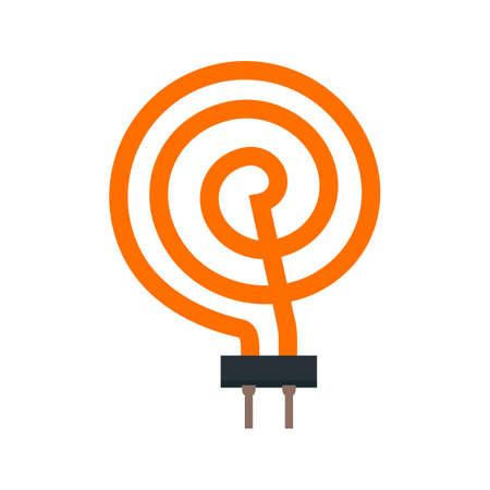 Verwarming, element, vector afbeelding elektrische icoon. Kan ook worden gebruikt voor elektrische circuits. Geschikt voor gebruik op het web apps, mobiele apps en gedrukte media.