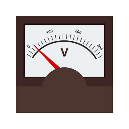 Voltmeter, meter, car icon vector image. Can also be used for electric circuits. Suitable for use on web apps, mobile apps and print media. Vector Illustration