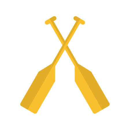 oar: Oar, paddle, rafting icon vector image. Can also be used for sea. Suitable for use on web apps, mobile apps and print media.