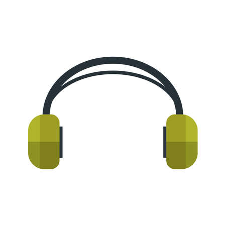 earbud: Headphones, audio, earphones icon vector image. Can also be used for hipster. Suitable for use on web apps, mobile apps and print media.