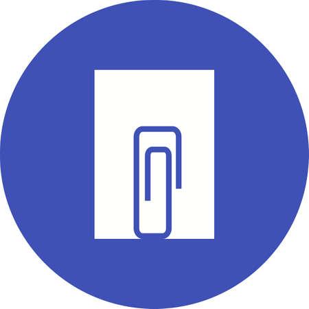 attach: Nota, documento, imagen del vector icono adjunto. También se puede utilizar para la comercialización. Adecuado para aplicaciones web, aplicaciones móviles y material de impresión. Vectores