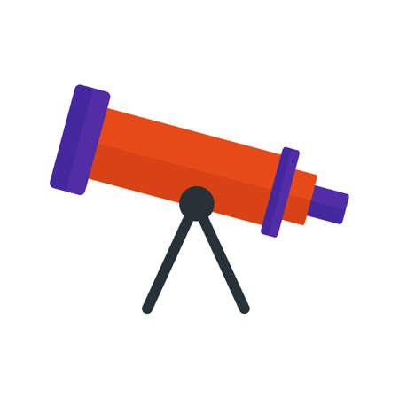 optical instrument: Telescope, binoculars, optical instrument icon vector image. Can also be used for astronomy. Suitable for web apps, mobile apps and print media. Illustration