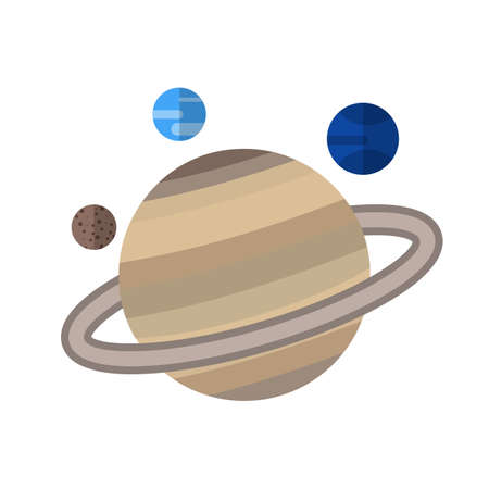 saturn planet: Saturn, planet, space icon vector image.Can also be used for astronomy. Suitable for use on web apps, mobile apps and print media.