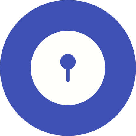 key hole: Hole, key, lock icon vector image.Can also be used for security. Suitable for mobile apps, web apps and print media.