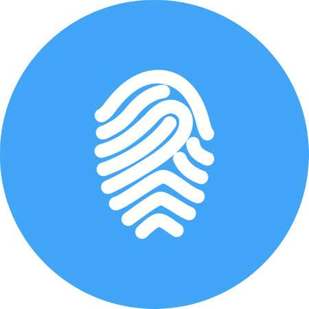 odcisk kciuka: Fingerprint, druk, unikalne ikony wektorowe image.Can być również stosowany do zabezpieczenia. Nadaje się do aplikacji mobilnych, aplikacji internetowych i mediach drukowanych.