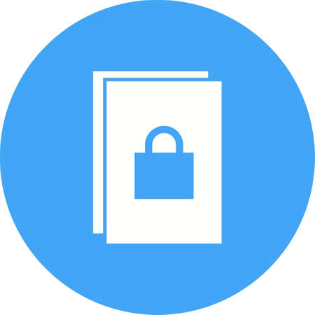 folder icon: Security, data, protection icon vector image.Can also be used for security. Suitable for mobile apps, web apps and print media. Illustration
