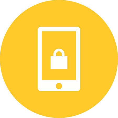 scans: Security, alarm, device icon vector image.Can also be used for security. Suitable for mobile apps, web apps and print media. Illustration