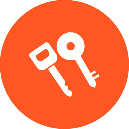 open car door: Keys, car, security icon vector image.Can also be used for security. Suitable for mobile apps, web apps and print media. Illustration
