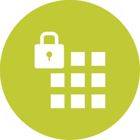 passcode: Passcode, security, lock icon vector image.Can also be used for security. Suitable for mobile apps, web apps and print media.