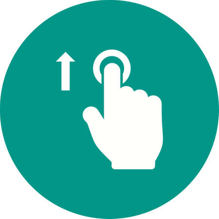 pointing device: Move, tap, click icon vector image.Can also be used for user touch gestures. Suitable for mobile apps, web apps and print media. Illustration
