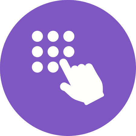 key pad: Password, mobile, lock icon vector image.Can also be used for user touch gestures. Suitable for mobile apps, web apps and print media.
