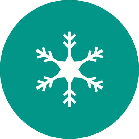 snowfalls: Snowflake, snow, ice icon vector image. Can also be used for winter. Suitable for use on web apps, mobile apps and print media.
