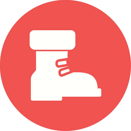 boot print: Boot, warm, winter icon vector image.Can also be used for winter. Suitable for use on web apps, mobile apps and print media.
