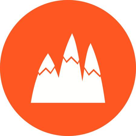 mountain snow: Mountain, snow, winter icon vector image.Can also be used for winter. Suitable for mobile apps, web apps and print media. Illustration