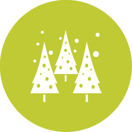 snowy hill: Snowing, tree, hill icon vector image. Can also be used for winter. Suitable for use on web apps, mobile apps and print media.