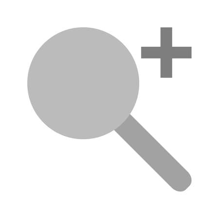 scrutinize: Zoom, magnify, search icon vector image.Can also be used for text editing. Suitable for mobile apps, web apps and print media.