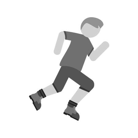 jogging in nature: Marathon, run, people icon vector image. Can also be used for outdoor fun. Suitable for use on web apps, mobile apps and print media.