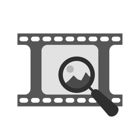 Imagen, de aumento, icono de zoom de imágenes vectoriales. También se puede utilizar para la fotografía. Adecuado para su uso en aplicaciones web, aplicaciones móviles y material de impresión.