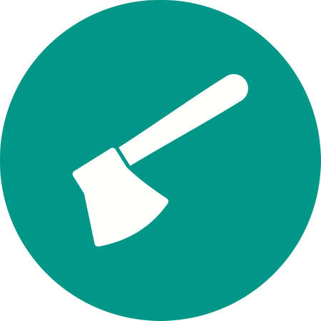 woodpile: Axe, wooden, handle icon vector image. Can also be used for tools. Suitable for web apps, mobile apps and print media.