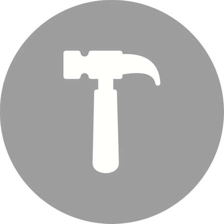 hardware icon: Hammer, tool, hardware icon vector image. Can also be used for tools. Suitable for use on web apps, mobile apps and print media. Illustration