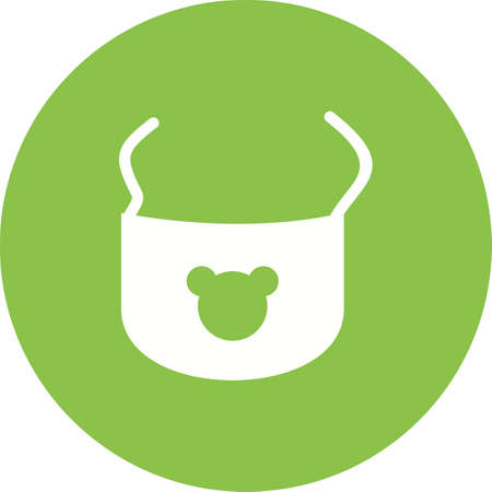 feeds: Bib, baby, clip icon vector image.Can also be used for baby. Suitable for mobile apps, web apps and print media.