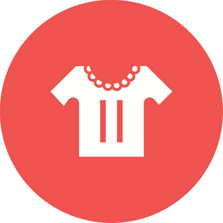 Baby, shirt, casual icon vector image. Can also be used for baby. Suitable for use on web apps, mobile apps and print media. Stock Vector - 54224285