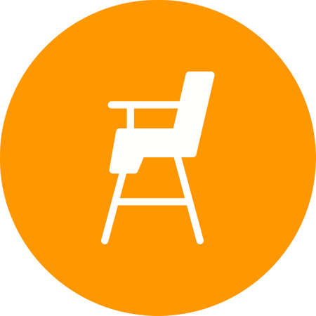 Chair, sit, baby icon vector image.Can also be used for baby. Suitable for mobile apps, web apps and print media.