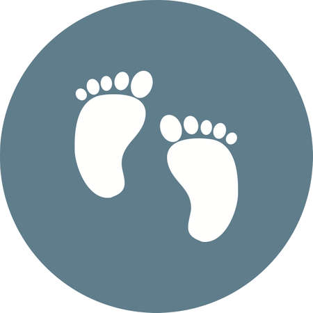 Baby, cute, feet icon vector image.Can also be used for baby. Suitable for mobile apps, web apps and print media. Illustration