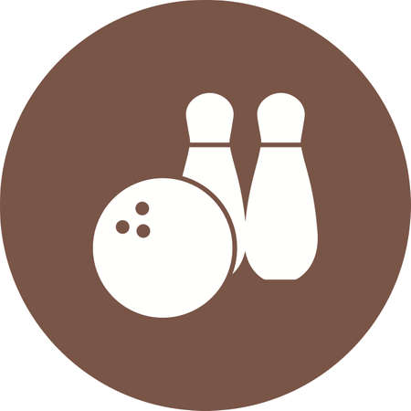 alleys: Ball, bowling, pins icon vector image. Can also be used for games entertainment. Suitable for web apps, mobile apps and print media.