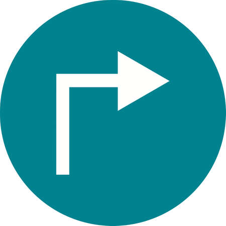 sharp curve: Road, turn, right icon vector image. Can also be used for maps navigation. Suitable for mobile apps, web apps and print media.
