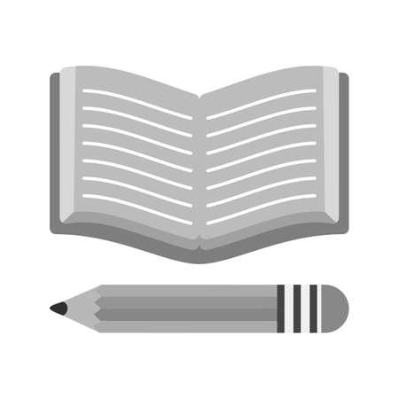 education: Pencil, book, education icon vector image.