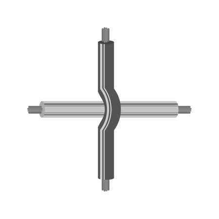 bind: Electricity, wire, crossed icon vector image. Can also be used for electric circuits. Suitable for use on web apps, mobile apps and print media.