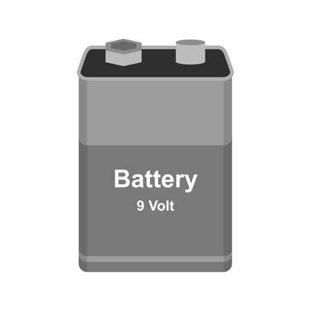 volts: Battery, car, power icon vector image. Can also be used for electric circuits. Suitable for use on web apps, mobile apps and print media.