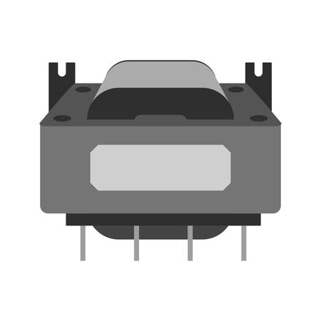 Transformer, circuit, electronic icon vector image.