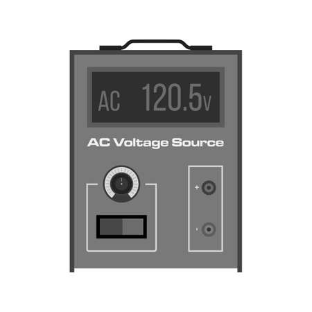 ac voltage source: Battery, volt, AC icon vector image.
