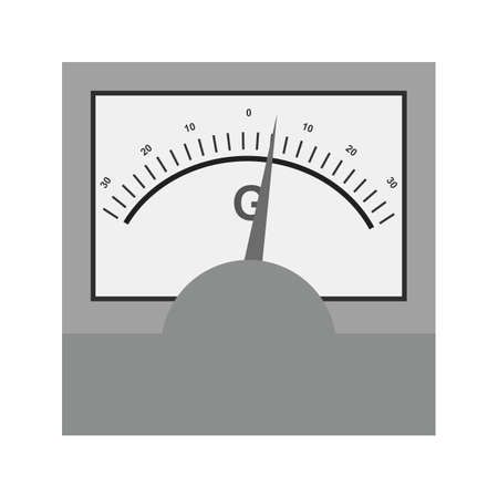 galvanometer: Galvanometer, science, electric icon vector image.