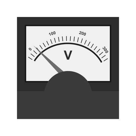 voltmeter: Voltmeter, meter, car icon vector image. Illustration