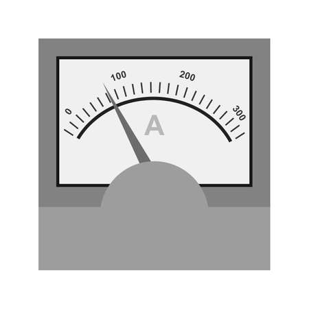 ammeter: Ammeter, meter, electrician icon vector image. Illustration